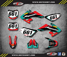 Full  Custom Graphics Kit VITAL STYLE  Honda CRF 50 - 2004 / 2017 stickers