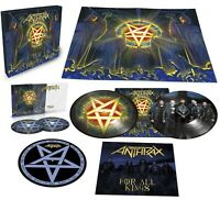 ANTHRAX - FOR ALL KINGS  PICTURE VINYL LP + 2 CD DIGIPACK BOX LIMITED NEU