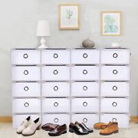 20 Grid Boîte à Chaussures Plastique Housse Tiroir Stockage Empilable Rangement