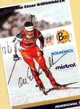 Ole Einar Björndalen (2) Autograph Picture Large Format 15 x 21 + Ski AK FREE