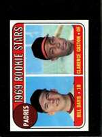 1969 TOPPS #304 BILL DAVIS/CITO GASTON NMMT (TRIMMED) RC ROOKIE PADRES PA *X7031
