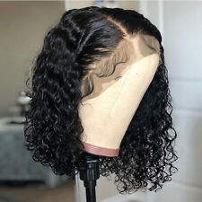 Pre Plucked Short Bob Curly Lace Front Wigs European Human Hair Full Head Wigs H