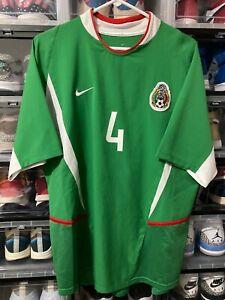 Nike Mexico Rafa Marquez Home Jersey shirt 2003 2004  Shirt  sz L mint