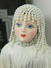 "Vintage 1984 Seymour Mann Art Deco Style Flapper 18"" Porcelain Doll in Box"