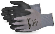 SUPERIOR SUS13PNT09 Dexterity® Black Widow Grip High Abrasion Glove LARGE 120prs