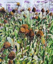 "NEW ORIGINAL PETE DAVIES ""Autumn Garden II"" flower flowers OIL CANVAS PAINTING"