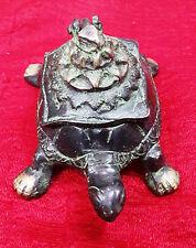 Antique Brass Turtle Trinket Jewelry Box Ashtray Statue Table Decor Gift Bm-260