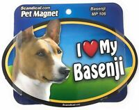 I LOVE MY BASENJI  Dog Gifts, Cars, Trucks. Lockers, Refrigerator