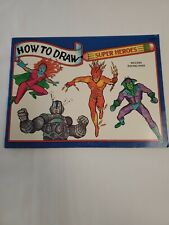 Vintage (1993) How To Draw Super Heros Includes Tracing Paper