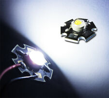 3 unidades, 1w Power LED en frío-blanco 12000-15000k, 110 LM, UF = 3,2v, IMAX = 350ma, Star