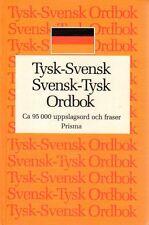 Wörterbuch schwedisch,Tyska Ordbok, 95.000 Wörter tysk svensk Prismas svenska