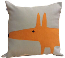 Scion Mr Fox Blue Cushion Cover 12""