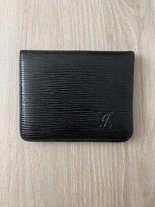 Louis Vuitton Epi Tassil Leather Vintage Black Bifold ID Card Holder Wallet