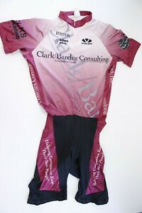 Voler Raglan Clarke/Bardes Consulting Maroon Cycling Suit Sz XL USA Made