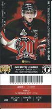 QMJHL Ticket - Quebec Remparts 20th Anniversary JONATHAN MARCHESSAULT #18 Vegas