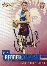 ✺Signed✺ 2014 BRISBANE LIONS AFL Card JACK REDDEN