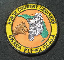 """HORSE COUNTRY CRUISERS MOTORCYCLE EMBROIDERED SEW ON PATCH OCALA FLORIDA 4"""""""