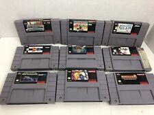 Lot Of 9 SNES Games Authentic Super Nintendo Pac-Attack Pac-Man 2 Lagoon NBA '98