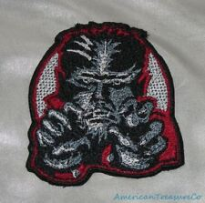 Embroidered Retro Halloween Wolfman B&W Movie Monster Patch Iron On Sew On USA