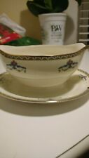 Vintage Pope Gosser Melrose Gravy Boat with Underplate