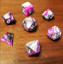 Gnomish Steel Dice Set Polyhedral DND Dungeons and Dragons Pathfinder