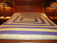 Vintage Handmade Handcrafted Crochet Afghan Throw Blanket Granny Square