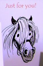 Thelwell Greeting Card - Pony head  Just for you - Brand new