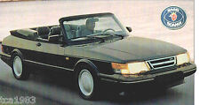 SAAB 900 Convertible SPEC SHEET/Brochure/Catalog:1993,
