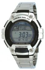 Casio WS220D-1A Mens Solar STAINLESS STEEL Sports Watch LED LIGHT LAP MEMORY 120
