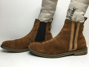 VTG MENS UNBRANDED SHORT CASUAL SUEDE LIGHT BROWN BOOTS SIZE 44 M?