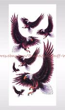 US SELLER-sticker tattoos hawk eagle Halloween face decal temporary tattoo