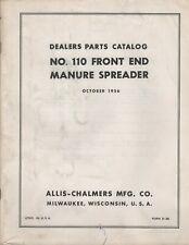 10-1956 ALLIS-CHALMERS #10 FRONT END MANURE SPREADER DEALER PARTS MANUAL (448)
