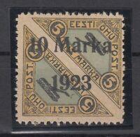 AY5566/ ESTONIA – AIRMAIL – MI # 43A MINT MH SIGNED – CV 1895 $