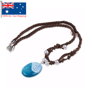 1pcs Cartoon Moana Necklace Costume Cosplay Props Princess Heart Jewelry AU