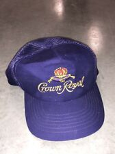 Vintage Society of the Crown Royal Whiskey Baseball Cap White Hat Snapback