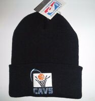 CLEVELAND CAVALIERS NBA VINTAGE BLACK CUFFED BEANIE KNIT WINTER CAP HAT NEW NWT!