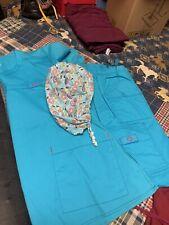 WonderWink womens Top and Bottom medical scrubs apparel sets Aqua L top Xl bott