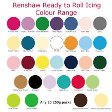 20 x Any Renshaw Ready To Roll Icing Fondant Cake Decoration Sugarpaste 250g