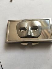 Ladys Masquerade Mask TG233 English Pewter On Mirrored 7 Day Pill box Compact