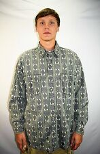 Vintage 90's Men's GUESS Jeans Long Sleeve Button Up Casual Dress Shirt Size XL
