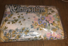 VINTAGE WAMSUTTA ULTRACALE Veronica King Flat Sheet Made in USA