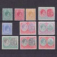 ST. KITTS & NEVIS 1938, SG# 68-77, CV £51, short set, MH