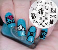 BORN PRETTY Nail Art Stamping Image Plate Template DIY Cute Cats Design BP-102