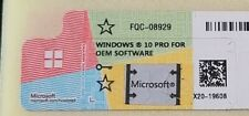 Microsoft Windows 10 Pro Profesional Coa