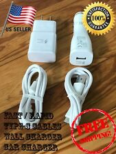 Oem Samsung Galaxy S8 S8 Plus Note 8 Fast Car & Wall Charger + Type-C Cable