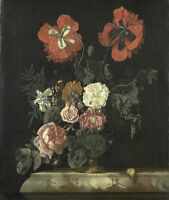 """high quality 20x24 oil painting handpainted on canvas """"still life with flowers """""""