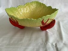 Vintage Carlton Ware Lobster Yellow/Green Cabbage/Lettuce Pedestal Bowl