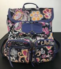 Hayden Harnett Anthropologie Floral Canvas & Leather Trim Backpack NWT $118