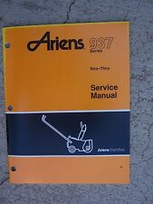 1991 Ariens 937 Series Sno-Thro Snow Blower Service Manual Controls Shrouds  S