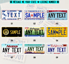 1/10 Scale License Plate CUSTOMIZED Decal RC Crawler&Truck (ALL 51 U.S. States)